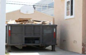 Affaldscontainer til byggeaffald